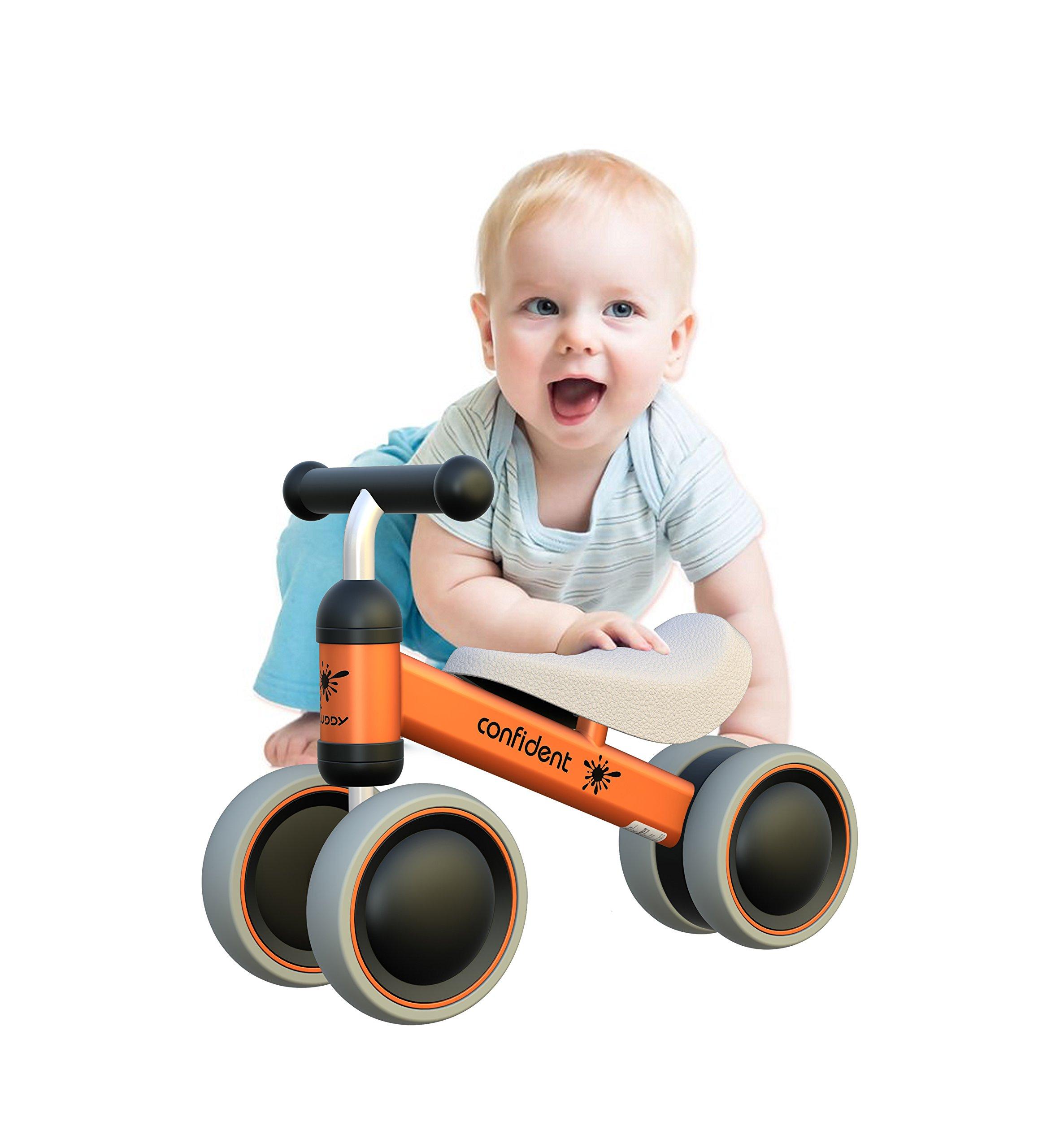 YGJT Baby Balance Bikes Bicycle Baby Walker Toys Rides 1 Year Boys Girls 10 Months-24 Months Baby's First Bike First Birthday Gift Orange