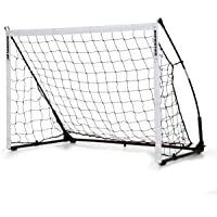 QUICKPLAY Kickster Elite Portable Soccer Goal with Weighted Base – Ultra Portable Indoor & Outdoor Soccer Goal [Single…