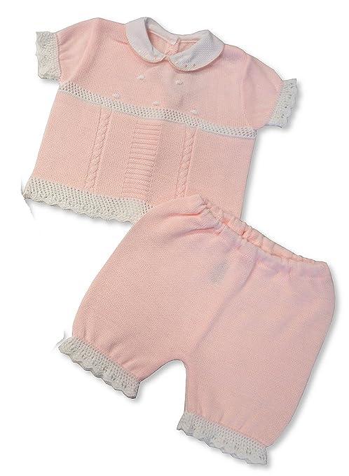 2 piezas bebé niñas y abrigo de punto, color rosa rosa rosa Talla:0