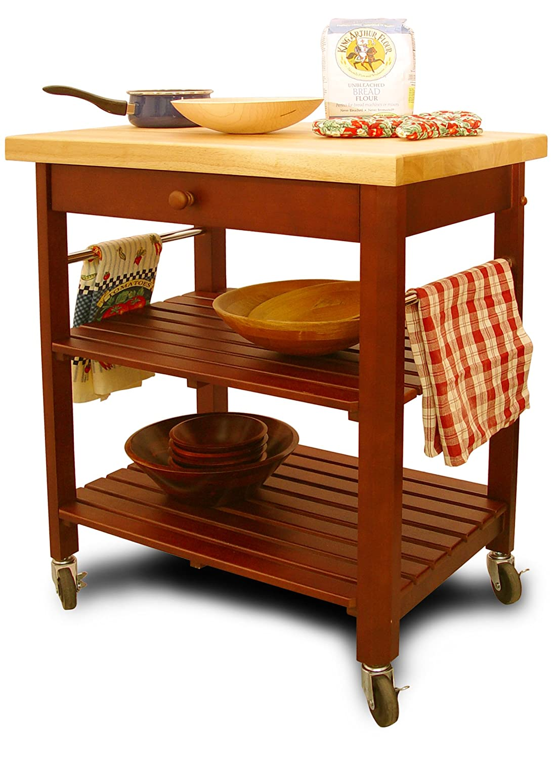 Amazon com catskill craftsmen kitchen roll about cart bar serving carts