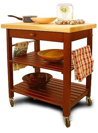 Amazon.Com - Catskill Craftsmen Kitchen Roll-About Cart - Bar