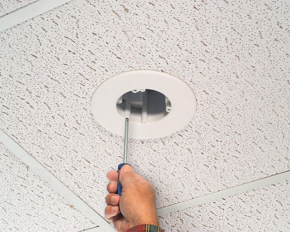 Arlington fl430s-1 cam-light caja para techos suspensión, 17 cubic-inches, metálico, 1 unidad, transparente: Amazon.es: Bricolaje y herramientas