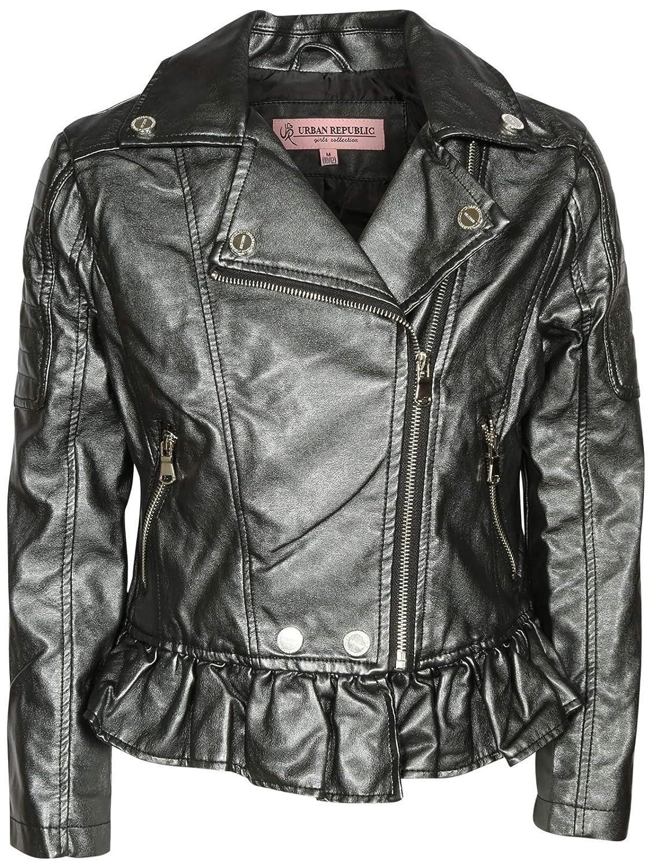Urban Republic Toddler /& Big Girls Faux Leather Motorcycle Moto Biker Jacket