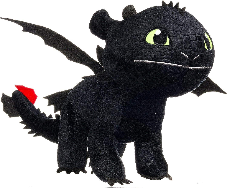 Dragons TOOTHLESS Dark Fury PELUCHE XXL ENORME 95cm Original 100% Dragon Trainer