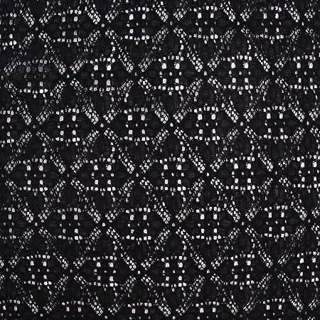Nooteboom Textiles Tela de confección de Ganchillo, puntilla, Flor Negra, 1,50 m de Ancho: Amazon.es: Hogar