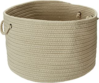 product image for Colonial Mills BR12 18 by 18 by 12-Inch Boca Raton Solid Storage Basket, Linen