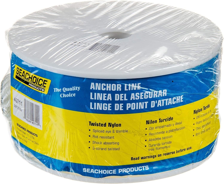 """SEACHOICE 47711 PREMIUM ANCHOR LINE 3//8/"""" X 100/'"""