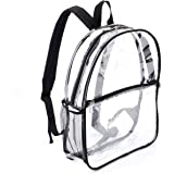 Jomparo Heavy Duty Clear Backpack Transparent Mini Backpacks See Through Student School Backpacks