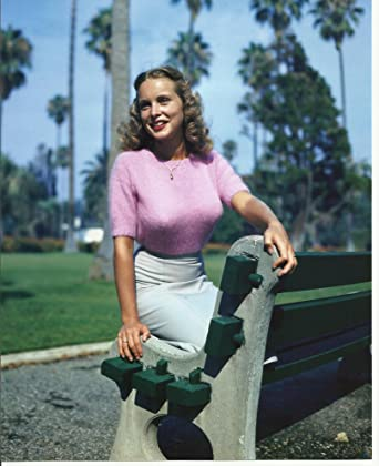 Young Janet Leigh in tight pink sweater 8x10 Sexy Photo at ...