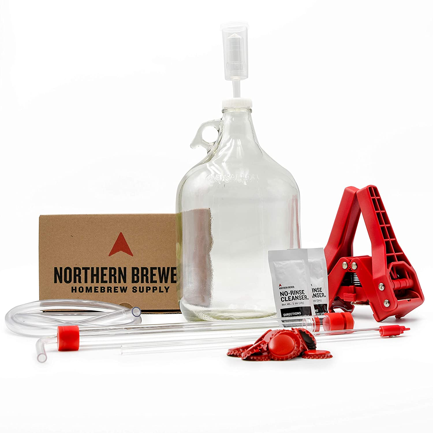 Northern Brewer American Wheat Beer Recipe Kit - Small Batch HomeBrewing Beer Brewing Starter Kit - Fermentation Jug Equipment For Making 1 Gallon Of Homemade Brew