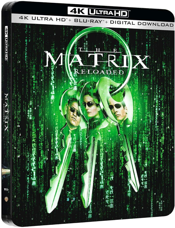 The Matrix Reloaded 4K Ultra HD Limited Edition Steelbook / Import / Includes Region Free Blu Ray: Amazon.es: Cine y Series TV