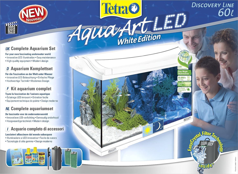 Acuario Tetra AquaArt LED 60 l Blanco 60 L white: Amazon.es: Productos para mascotas