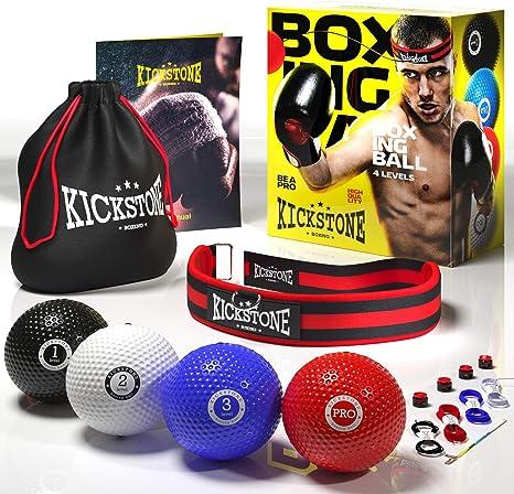 manda Stell Fight Ball Reflex Boxing Trainer Training Boxer Speed Punch Head Cap String