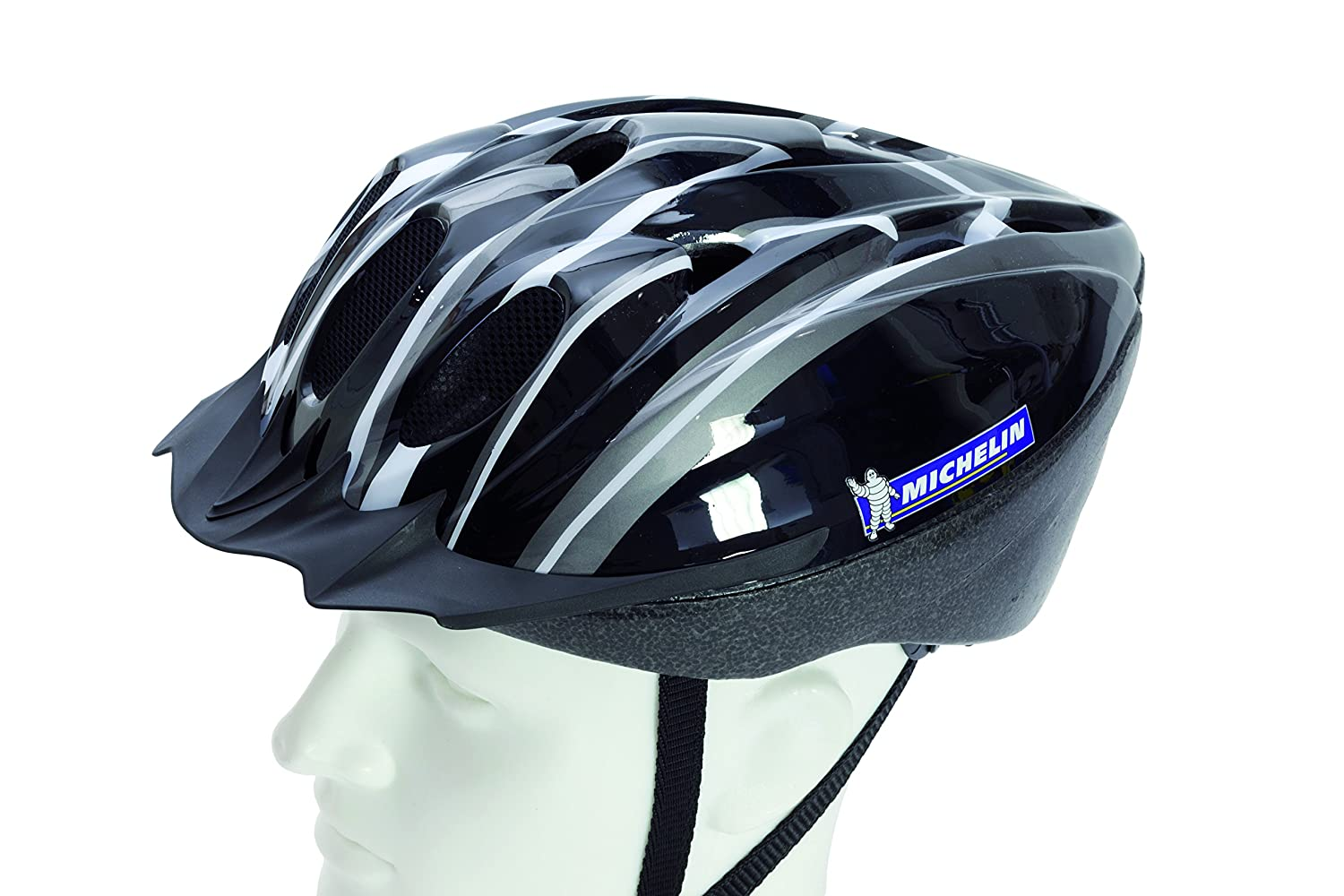 Michelin Ms Action Sport Casco de Bicicleta, Color Negro y Blanco: Amazon.es: Deportes y aire libre
