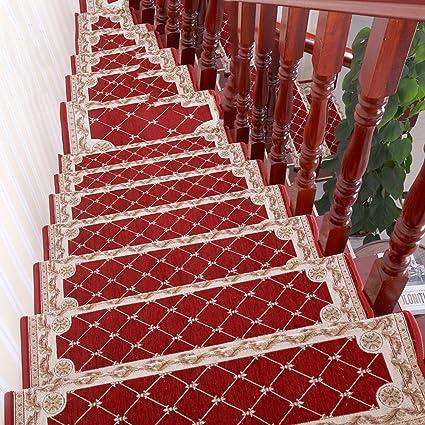 NRQU European Style Anti Slip Stair Tread Mat Corner Stair Mat Step Pad E