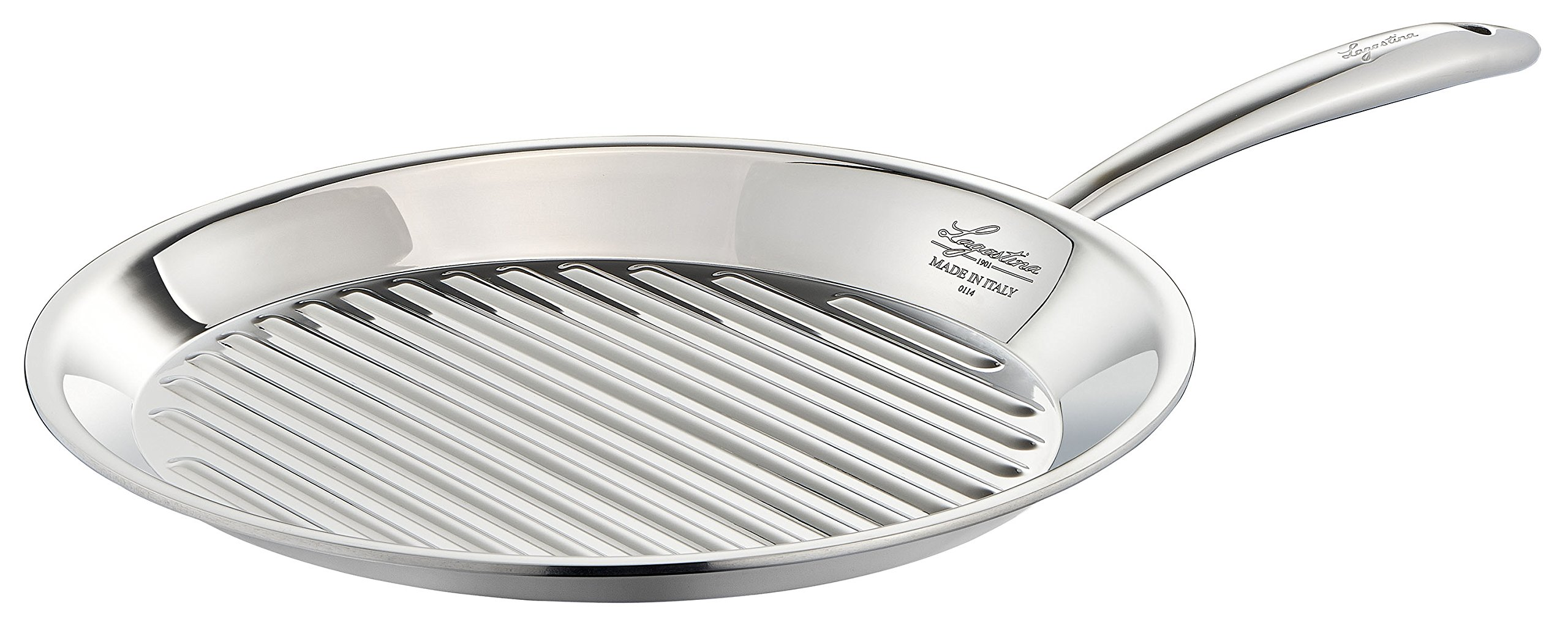 Lagostina Q5510474 Accademia Bistecchiera Stainless Steel Grill Pan Cookware, 11-Inch