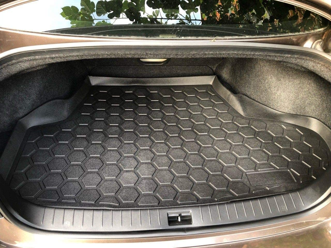 Rear Trunk Liner Tray Mat Pad for INFINITI Q50 2014 2015 2016 2017 2018 2019 2020 Floor Cargo Tray Protection Dirt Mud Snow All Weather Season Waterproof WaterResistant 3d Laser Measured Custom Fit