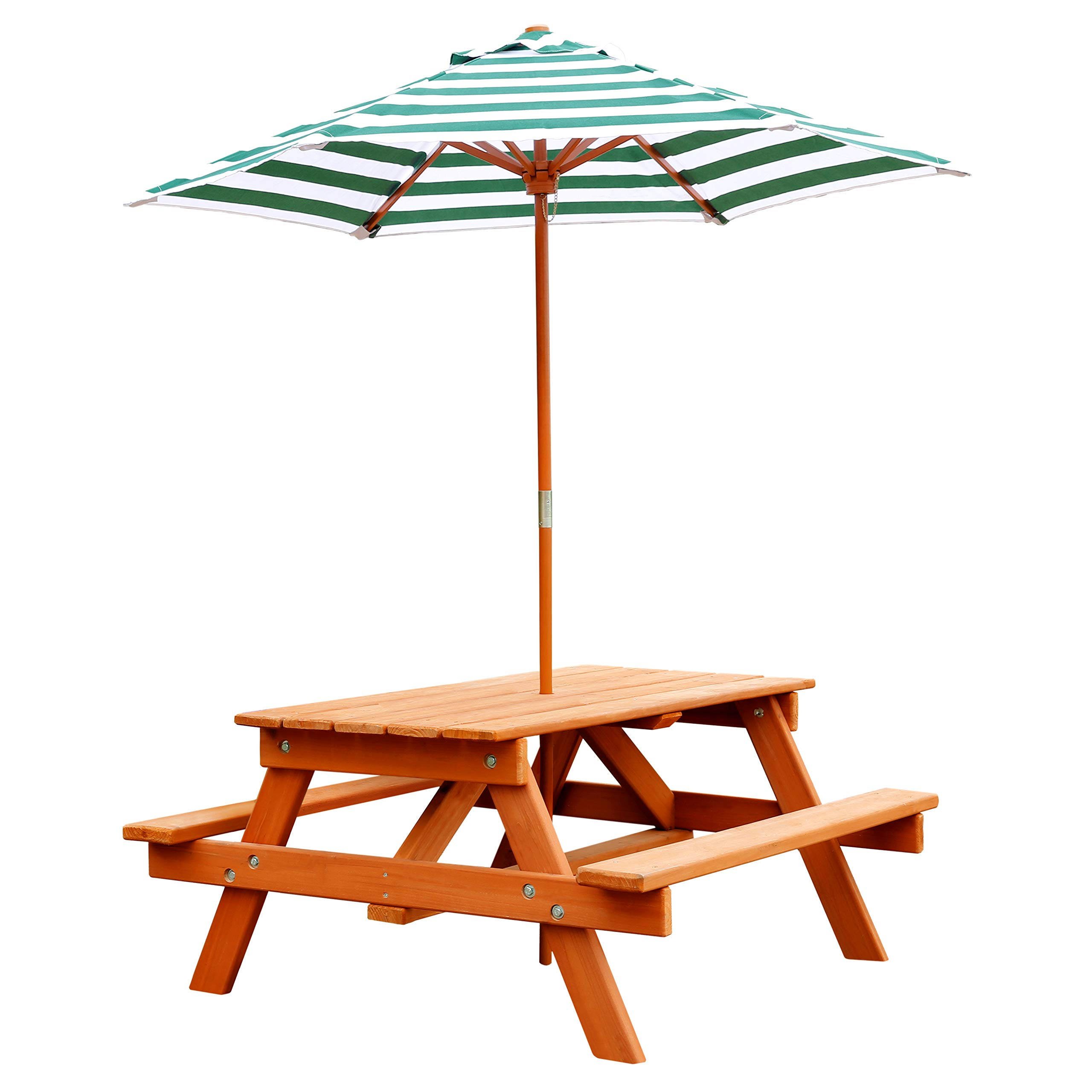 Jur_Global Wooden Children's Picnic Table with Umbrella by Jur_Global (Image #3)