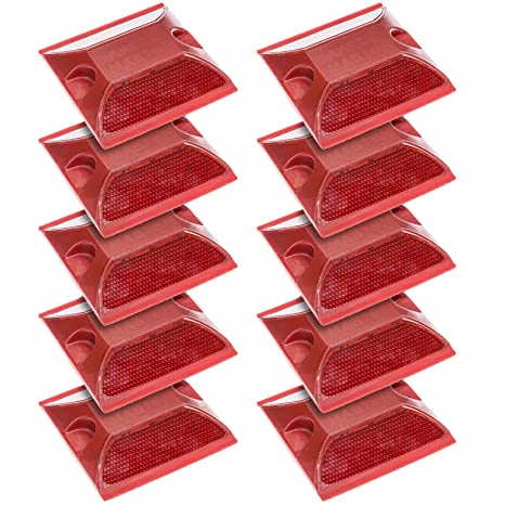 Reflective Road Pavement Marker Pack of 10 New - Durable Aluminium Reflect..