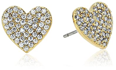 c090f9b6f Image Unavailable. Image not available for. Color: kate spade new york Pave  Heart Stud Earrings