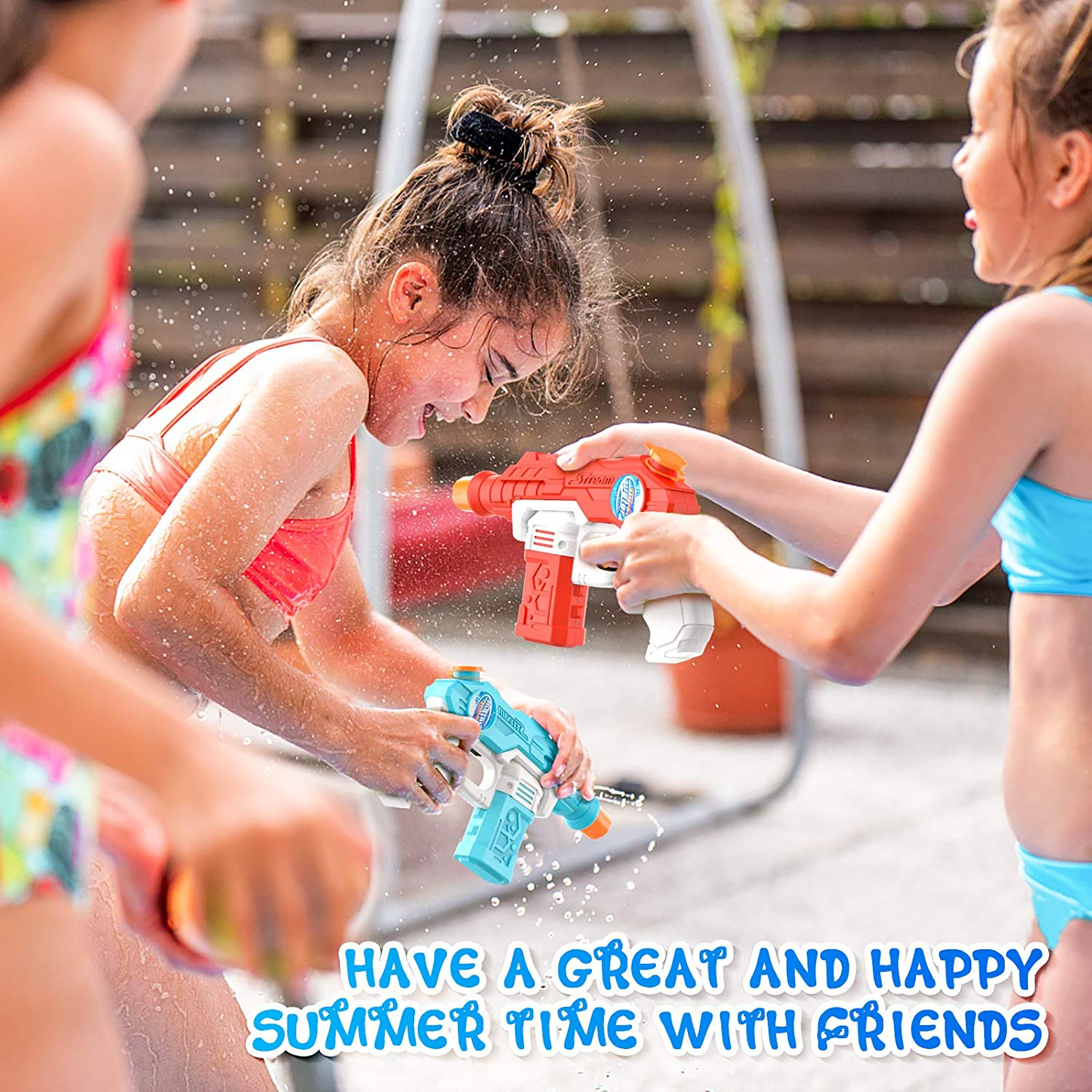 6 Pack Water Guns for Kid Adults Super Squirt Guns Water Blaster Toy for Swimming Summer Outdoor Yard Beach Pool Water Toy Water Fighting: Toys & Games