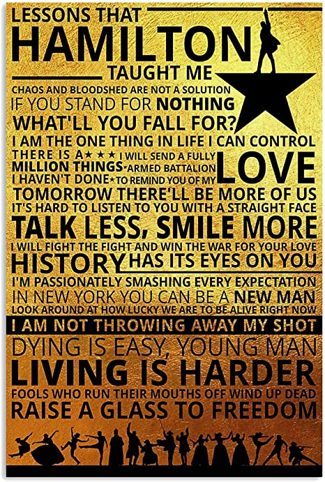 Hamilton An American Musical Broadway promotional Art Silk Poster 24x36inch