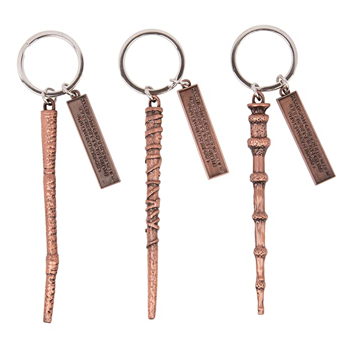 Harry Potter Collectible Key Chain Mystery Blind Box, 3 Pack - Receive 3 of 12 Mystery Key Rings - Spells, Wands and Horcruxes - Collect all 12!