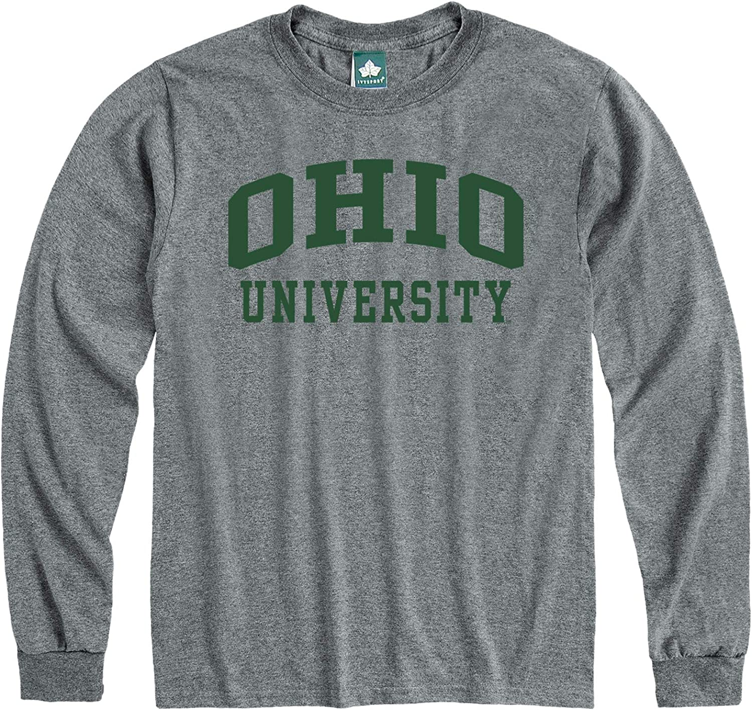 Adult Grey NCAA Colleges and Universities Classic Arch Logo Ivysport Long Sleeve T-Shirt