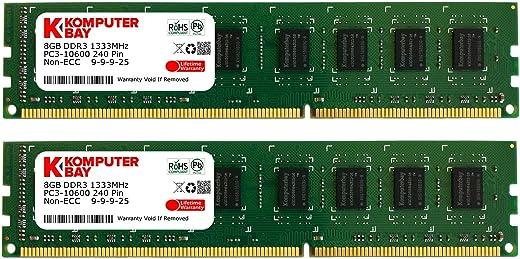 ذاكرة سطح المكتب RAM 2X 8GB) PC3-10600 10666 1333MHz DDR3 1333 DRAM DIMM 240-Pin مجموعة ثنائية القناة 9-9-25