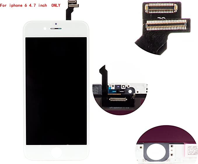 Front Glass LCD Screen Replacement Digitizer Assembly Frame Full Set Display Touchscreen for iPhone 7 4.7 Inches Black
