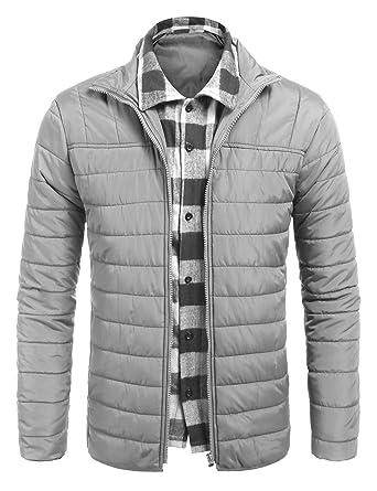7b5767cdb Jinidu Mens Layered Puffer Jacket Packable Lightweight Down Jacket ...