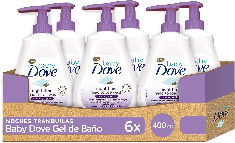 Baby Dove Gel de Ducha para Bebés Noches Tranquilas - Pack de 6 x ...