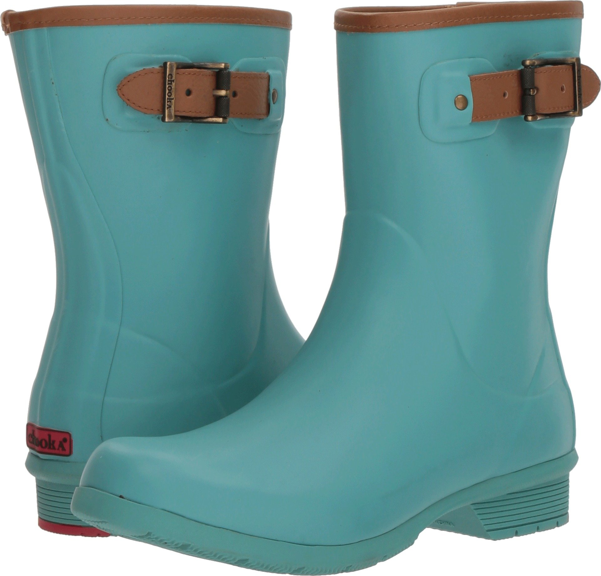 Chooka Women's City Solid Mid Rain Boots Aqua 9 M US