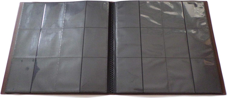 docsmagic.de PRO-Player 12-Pocket Playset Album Brown MTG 480 Card Binder YGO Raccoglitore per Carte da Gioco collezionabili Marrone PKM