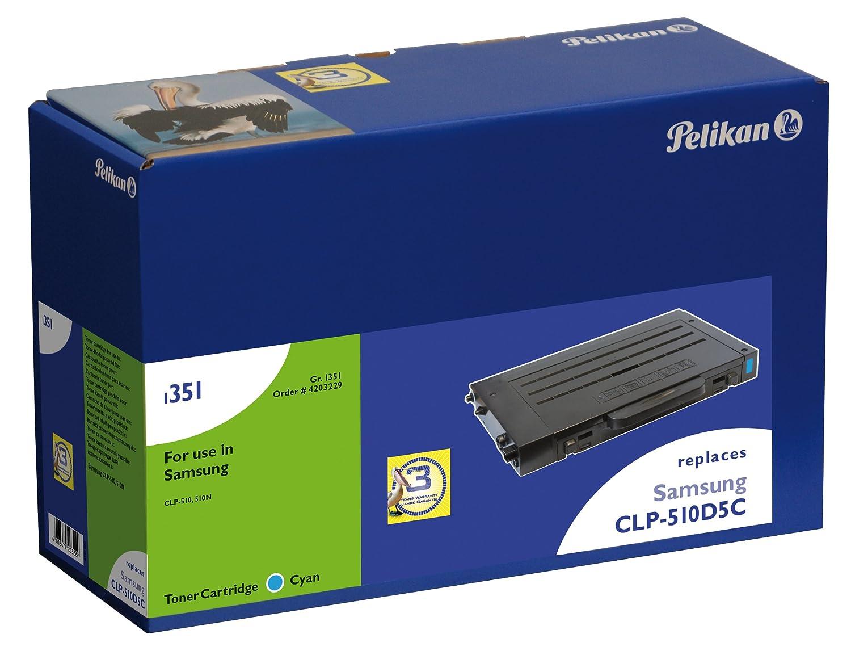 Pelikan Toner-Modul 1189c ersetzt Samsung CLP-510D5C, Cyan, 5000 Seiten