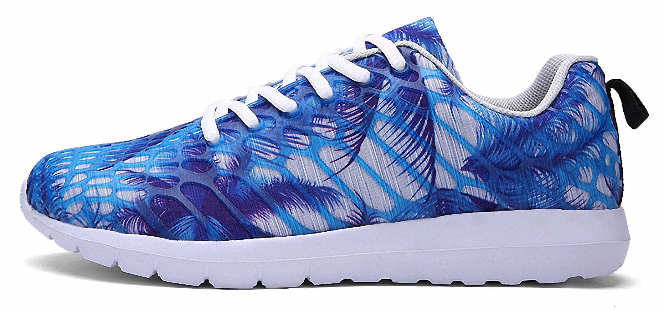 ZHENZHONG Women's Cool Fashion Sneakers Running Sport Shoes Blue for Walking Jogging by ZHENZHONG (Image #2)