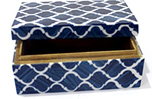 All Designer Handmade Wooden Boxes Home Decor storage box , 4 X 6 inches , Blue