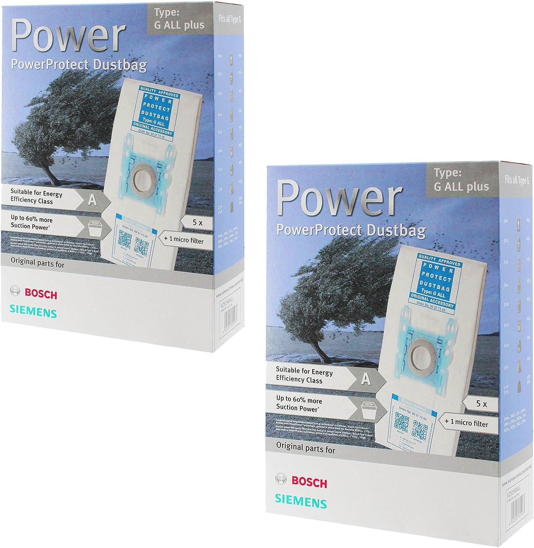 Bosch tipo G SuperTEX MegaFilt bolsas para aspiradora + filtro (8 ...