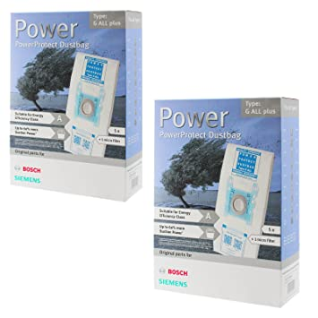 Bosch tipo G SuperTEX MegaFilt bolsas para aspiradora + ...