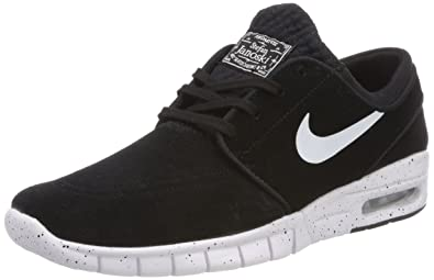 2f02d6d420 Nike Mens Air Stefan Janoski Max L Skateboarding Shoe ( Black   white