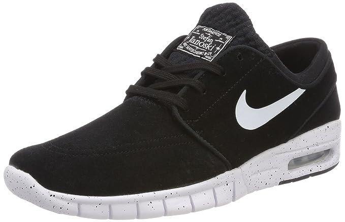 Nike Men's Stefan Janoski Max L Black/White Skate Shoe 7 Men US