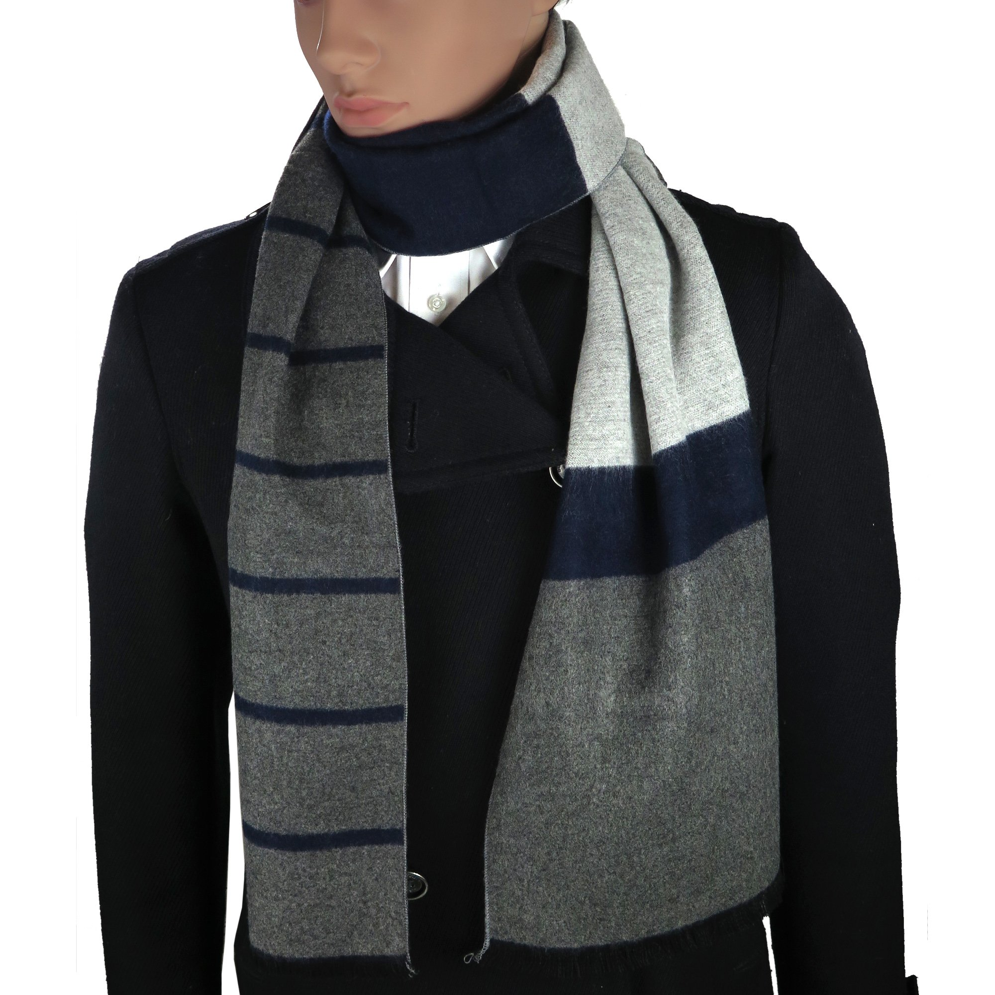Mens Cashmere-Feel Winter Scarf By Debra Weitzner: 100% Cotton, Soft And Warm Accessory In 6 Prints