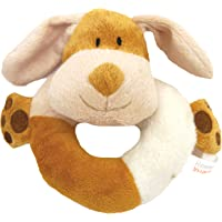 Super Soft Puppy Small Dog Natural Nippers Cuddle Plush Ring with Squeak