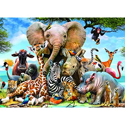 1000 Pieces Jigsaw Puzzle Landscape Building Puzzle Educational Toys for Kids Adults (Colorful-Animal): Toys & Games