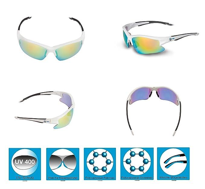 Nexi Sportbrille Sonnenbrille verspiegelt S-5A, schwarz