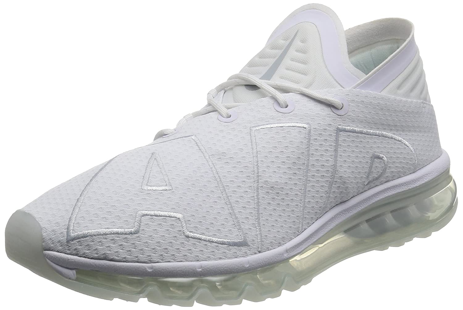 NIKE Air Max Flair, Herren Sneaker Weiß Pure Platinum 42 EU