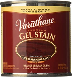 Varathane 224500 Premium Gel Stain Half Pint Red Mahogany