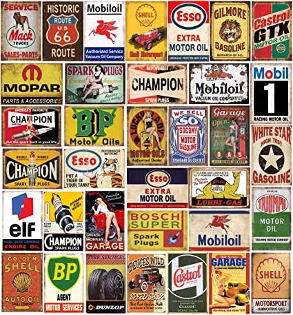 Shell Motor Oil Wooden Storage Box Decorative Classic Vintage Retro Bar Man Cave