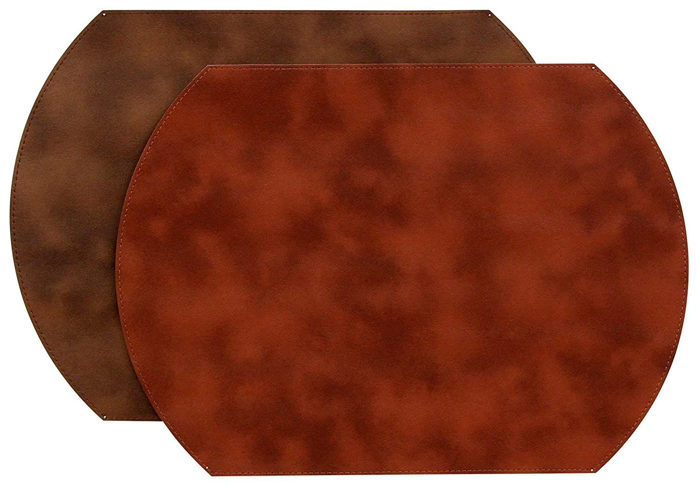 カレンLee Ballard Ponyレンガ/コニャック、リバーシブルビニールプレースマット/ 4のセット   B01K7X2CAA