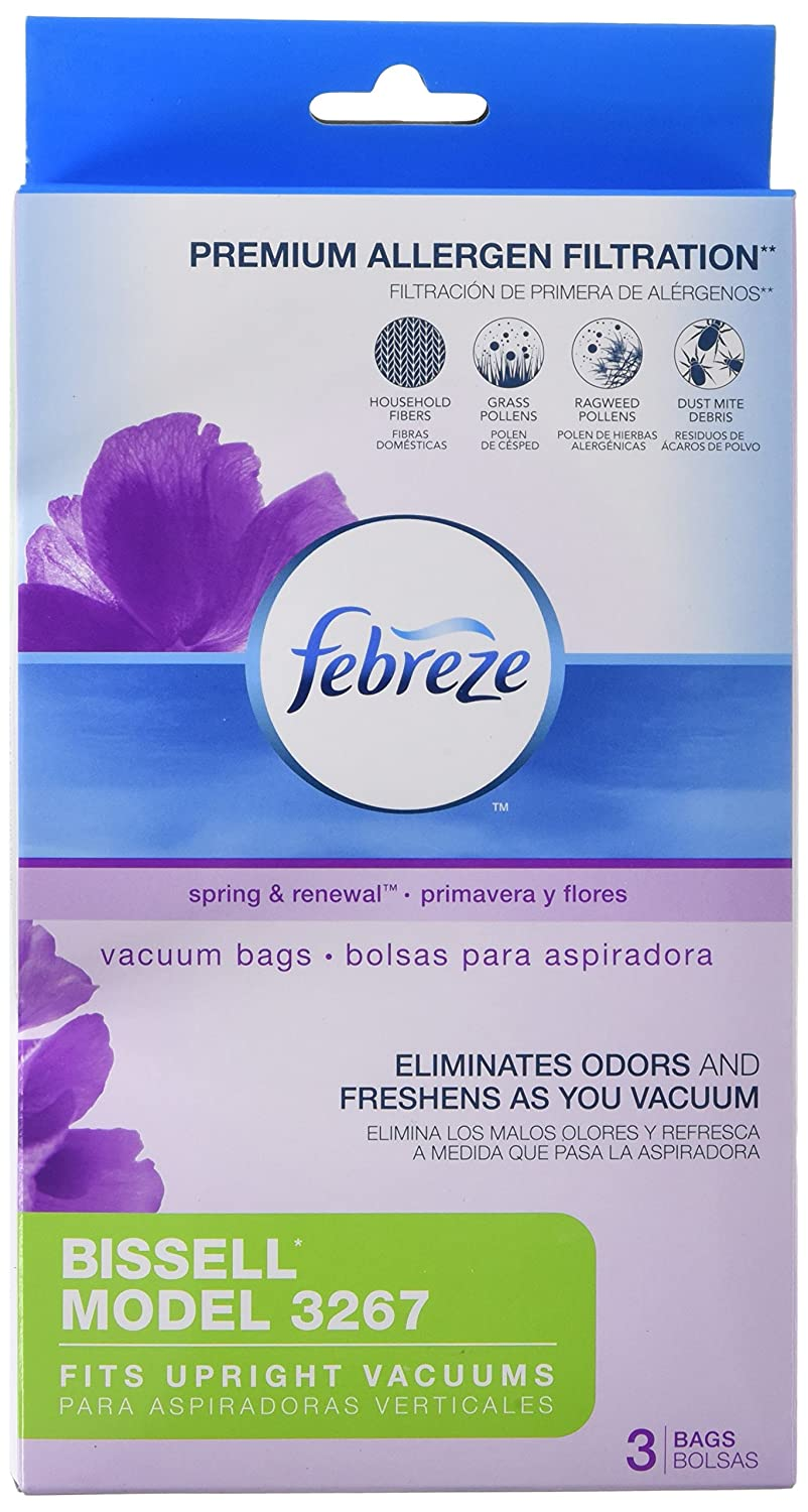 Bissell Velocity Febreze 3267 Allergan Paper Bag (Pack of 3)